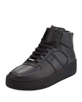 Maison Margiela Men's MM1 Leather Mid-Top Sneakers