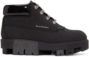 Acne Studios Black Tinne Hiking Boots