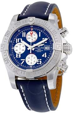 Breitling Avenger II Automatic Blue Dial Blue Leather Men's Watch