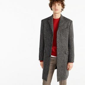 J.Crew Ludlow topcoat in textured grey tweed