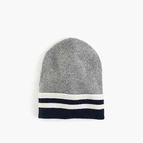 J.Crew Kids' striped cashmere beanie hat