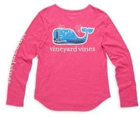 Vineyard Vines Toddler's, Little Girl's& Girl's New Year Scene Cotton Tee