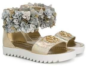 Roberto Cavalli brocade sandals