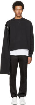 Raf Simons Black Cropped Taped Sweatshirt