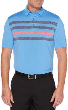 Callaway Men's Ventilated Space-Dye Chest-Stripe Polo