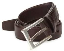 John Varvatos Leather Dress Belt