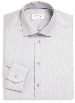Eton Slim-Fit Herringbone Dress Shirt