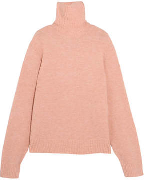 Frame Knitted Turtleneck Sweater - Blush
