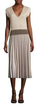 Agnona Wool Pleated Dress