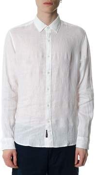 MICHAEL Michael Kors White Linen Slim Fit Shirt