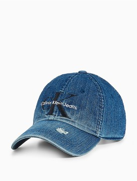 Calvin Klein Monogram Logo Destructed Denim Hat