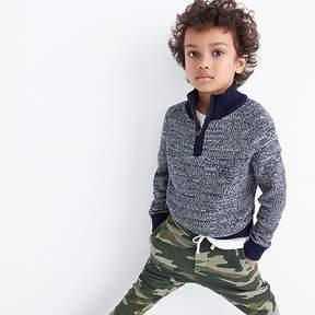 J.Crew Boys' marled cotton half-zip pullover