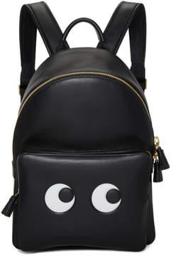 Anya Hindmarch Black Mini Eyes Backpack