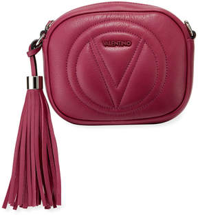 Mario Valentino Valentino By Nina Rounded Leather Tassel Crossbody Bag