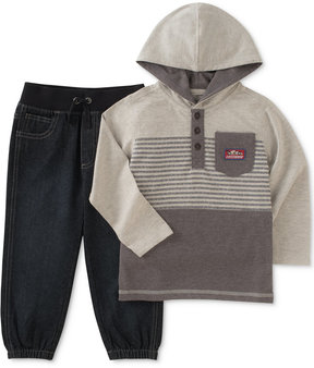 Kids Headquarters Kid's Headquarters 2-Pc. Hooded Shirt & Pants Set, Toddler Boys (2T-5T)