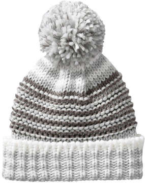 Joe Fresh Women's Stripe Knit Winter Hat, Grey (Size O/S)