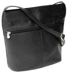Royce Leather Women's Vaquetta Shoulder Bag With Front Zipper.