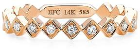 Ef Collection Women's Diamond and 14K Rose Gold Stack Ring