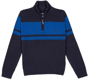 Chaps Boys 8-20 Quarter-Zip Chest Stripe Sweater