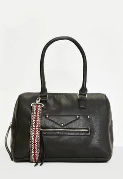 Black Guitar Strap Cross Body Bag