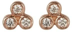 Ef Collection 14K Rose Gold Bezel Diamond Trio Stud Earrings - 0.06 ctw