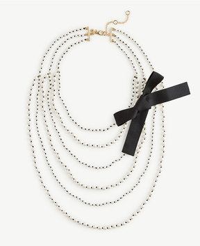 Ann Taylor Knotted Pearlized Tier Necklace