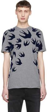 McQ Grey Swallow Signature T-Shirt