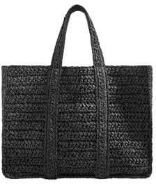 MANGO Braided Shopper Bag