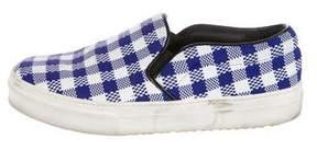 Celine Gingham Slip-On Sneakers