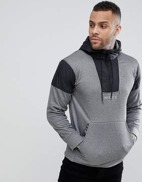 Nicce London track hoodie in gray with half zip