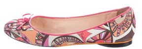 Emilio Pucci Abstract Print Ballet Flats
