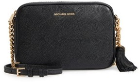 MICHAEL Michael Kors Medium Ginny Leather Camera Bag - Black - BLACK - STYLE