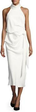 Camilla And Marc Foxglove Sleeveless Draped Cocktail Dress, White