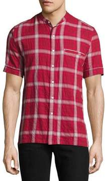 Ovadia & Sons Crosby Plaid Short-Sleeve Shirt, Red