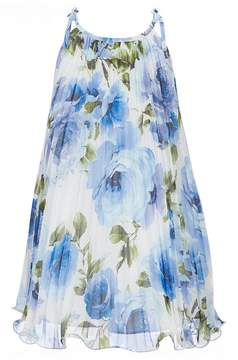 Bonnie Jean Big Girls 7-16 Floral-Printed Chiffon Trapeze Dress