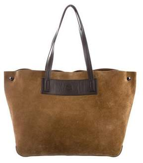 Rag & Bone Leather-Trimmed Suede Tote