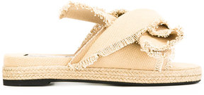 No.21 frayed trim sandals