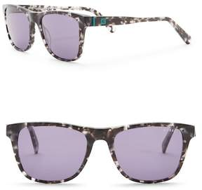 GUESS 55mm Rectangle Sunglasses