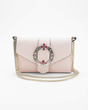 Express Embellished Buckle Chain Shoulder Bag