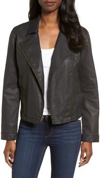 Eileen Fisher Women's Waxed Moto Jacket
