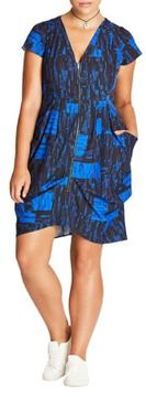 City Chic Plus Abstract Print Tunic Dress