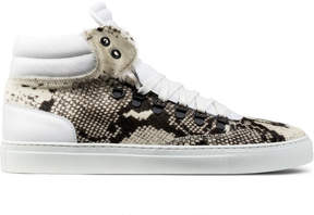 Ylati Snake Prink Pony Hair Opus High Top Sneakers