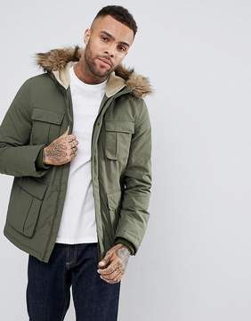 Jack Wills Bromhead Down Parka In Olive