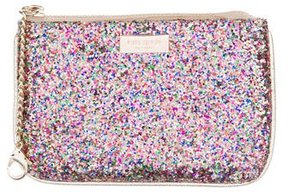 Kate Spade Glitter-Embellished Coin Purse - METALLIC - STYLE