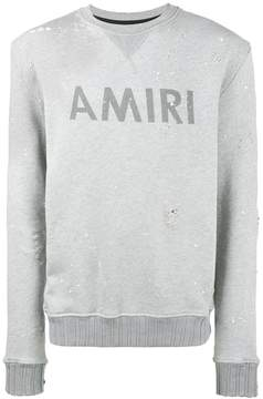 Amiri distressed paint splattered sweatshirt