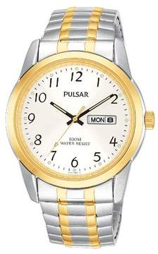 Pulsar Men's Expansion Watch - Two Tone with Silver Dial - PJ6052