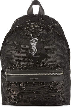 Saint Laurent Mini City backpack - METALLIC - STYLE