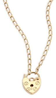 ginette_ny Mini Providence 18K Rose Gold Pendant Necklace