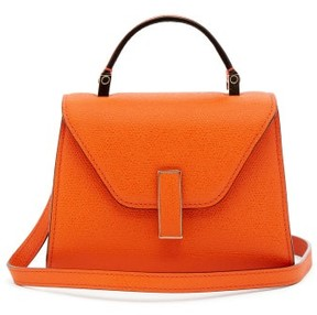 Valextra Iside Micro Grained Leather Bag - Womens - Orange
