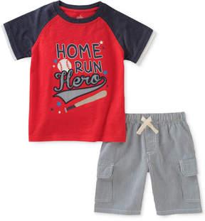 Kids Headquarters Graphic-Print Cotton T-Shirt & Shorts Set, Little Boys